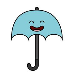 Umbrella silhouette kawaii character vector