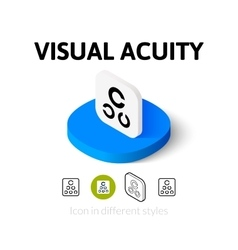 Visual acuity icon in different style vector image
