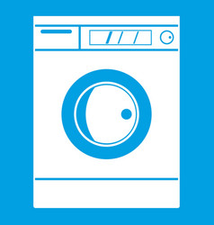Washing machine icon white vector