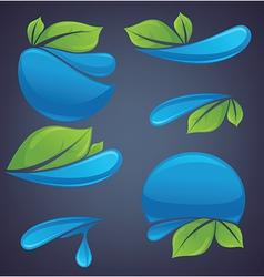water symbols vector image vector image