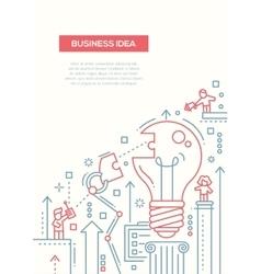 Business Idea - line design brochure poster vector image