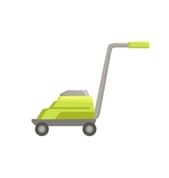 Green lawn mower vector