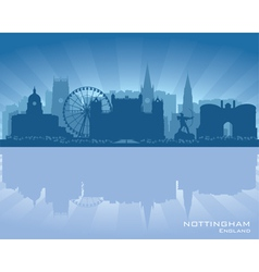 Nottingham england skyline vector