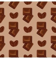 Milk chocolate seamless pattern vector image