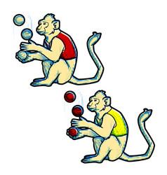 Retro vintage style circus trained wild animals vector