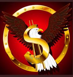 usa dollar eagle background vector image