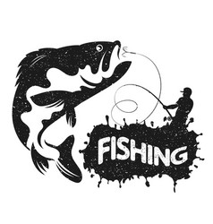 Fishing silhouettes vector