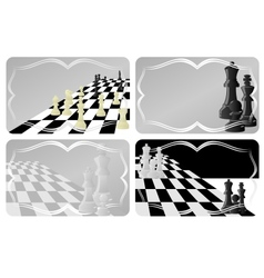 Business card with chess vector
