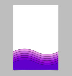 Page template from purple curves vector