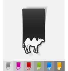 Realistic design element camel vector