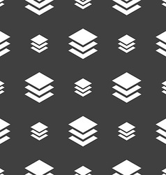 Layers icon sign seamless pattern on a gray vector