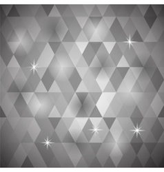 Grey geometric retro pattern vector