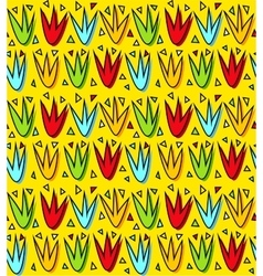 Colorful tulip flowers seamless pattern vector