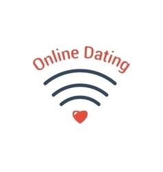 Symbol of online dating vector