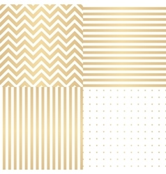 Abstract simple glossy golden seamless pattern vector