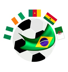 Africa zone qualification in a brazil 2014 vector