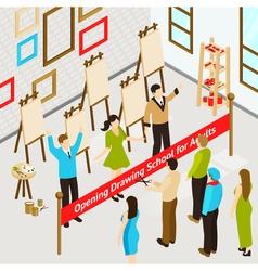 Art Studio Isometric Poster vector image