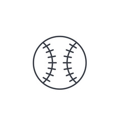baseball ball thin line icon linear symbol vector image vector image