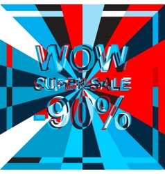 Big ice sale poster with wow super sale minus 90 vector