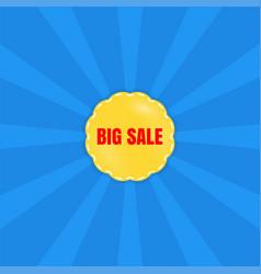 Big sale poster banner special offer vector