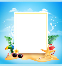 blank square rectangle banner with copy space vector image