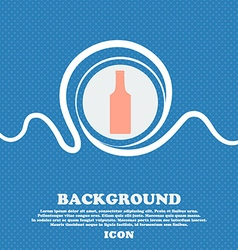 bottle sign icon Blue and white abstract vector image
