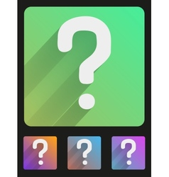 Flat icon set question mark vector