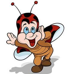Happy ladybird vector
