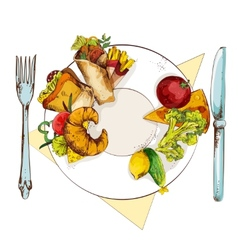 Healthy and unhealthy food vector image