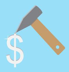 Make money concept silver dolar vector