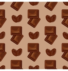 Milk chocolate seamless pattern vector