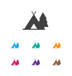 Of camping symbol on journey vector