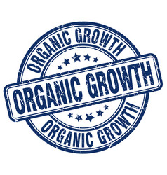 Organic growth blue grunge stamp vector