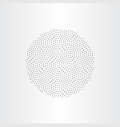 Particles in circle design element vector