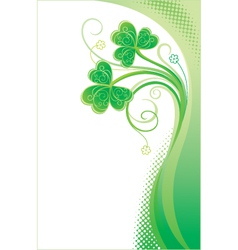 Patrick background with shamrock vector image