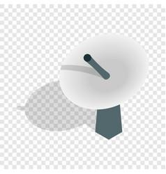 Satellite dish antenna radar isometric icon vector