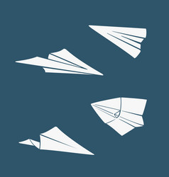 set of symbols paper airplane vector image