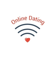 Symbol of Online Dating vector image vector image