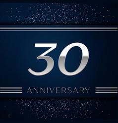 Thirty years anniversary celebration logotype vector