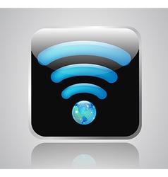 wifi globe vector image