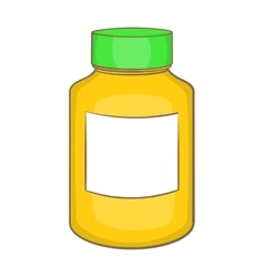 Bottle of pills icon cartoon style vector