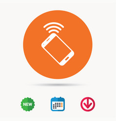 cellphone icon mobile phone communication vector image