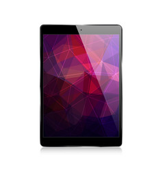 Ipad triangular abstract background vector