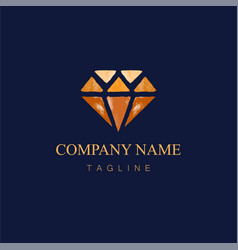 watercolor diamond logo design2 vector image