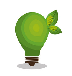 Eco green bulb light vector