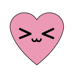 Kawaii love heart passion romantic cute icon vector