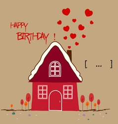 Happy birth day warm home vector