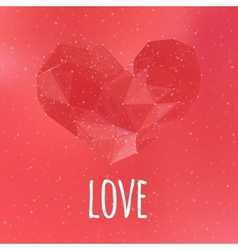 Love triangular heart card vector