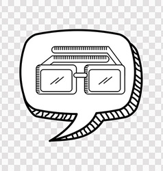 3d glasses icon vector image