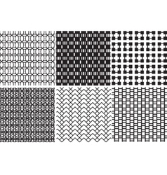 Geometric black and white textures vector